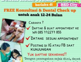 Dental Home Promo, Konsultasi dan Check Up Gratis