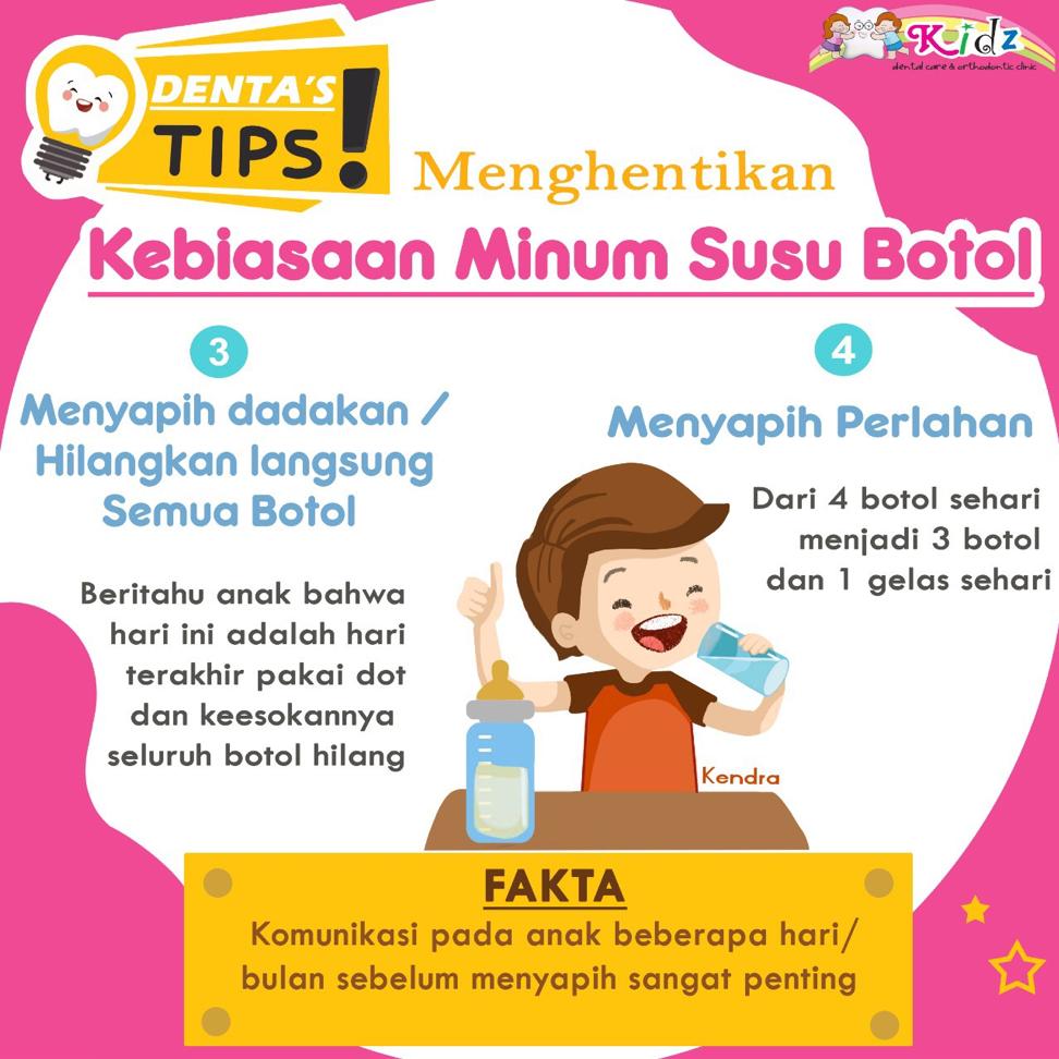 Menghentikan Kebiasaan Minum Susu Botol