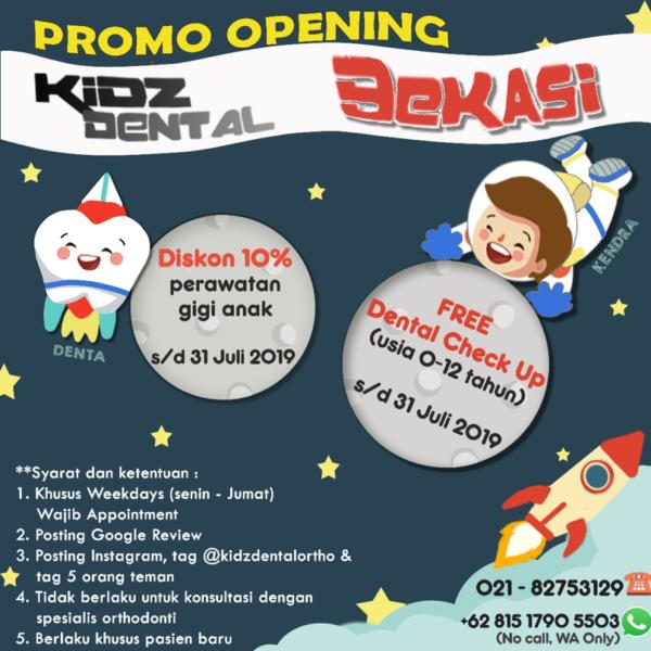 promo opening klinik gigi anak bekasi